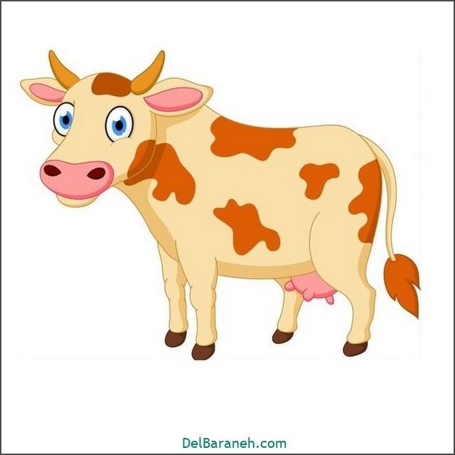 نقاشی گاو برای بچه ها (۳)