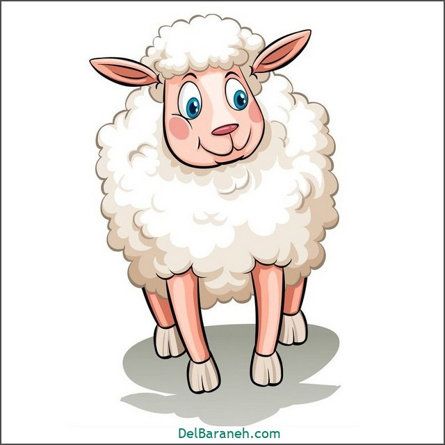 نقاشی گوسفند برای بچه ها (۲)