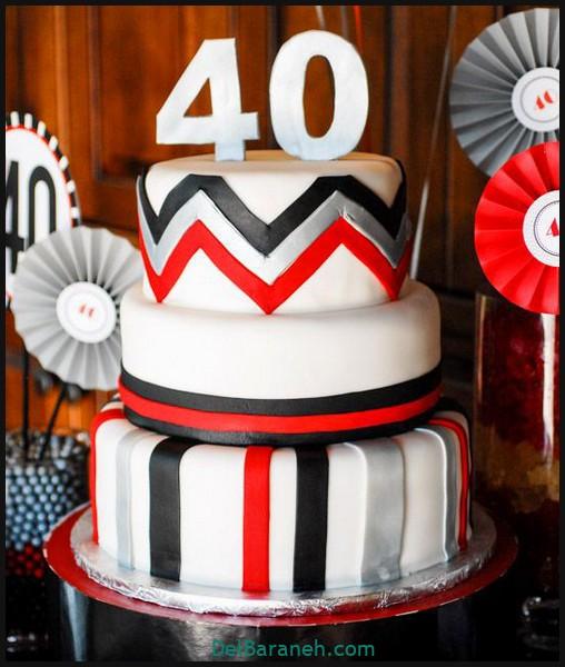 کیک تولد مردانه (۴۰)