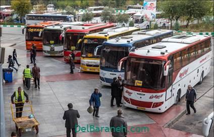 قیمت بلیط اتوبوس در خرید آنلاین بلیط
