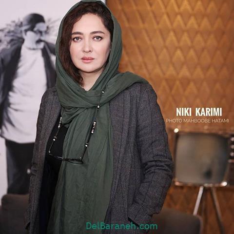 مدل مانتو نیکی کریمی در جشنواره فیلم فجر 98