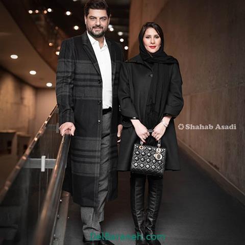 مدل مانتو همسر سام درخشانی در جشنواره فیلم فجر 98