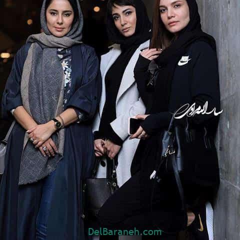 مدل مانتو شیدا یوسفی و متین ستوده و سمیرا حسن پور در جشنواره فیلم فجر 98
