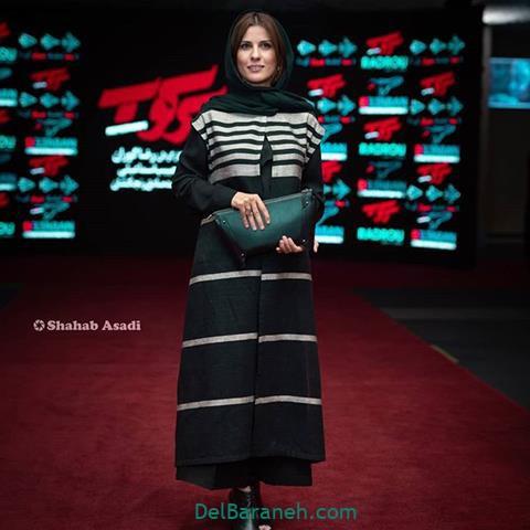 مدل مانتو سارا بهرامی در جشنواره فیلم فجر 98
