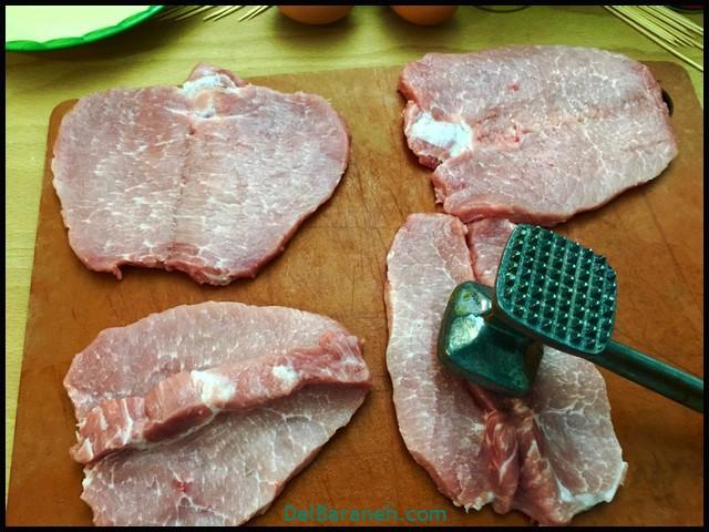 کوردن بلو با گوشت (۲)