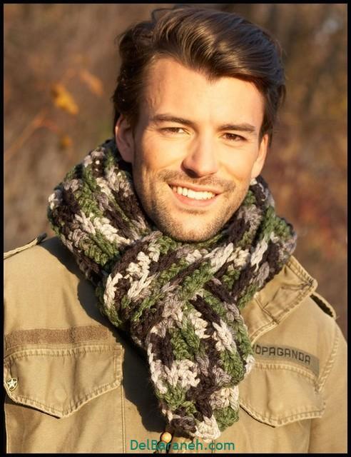 شال گردن مردانه | ۱۰۰ مدل شال گردن مردانه بافتنی شیک
