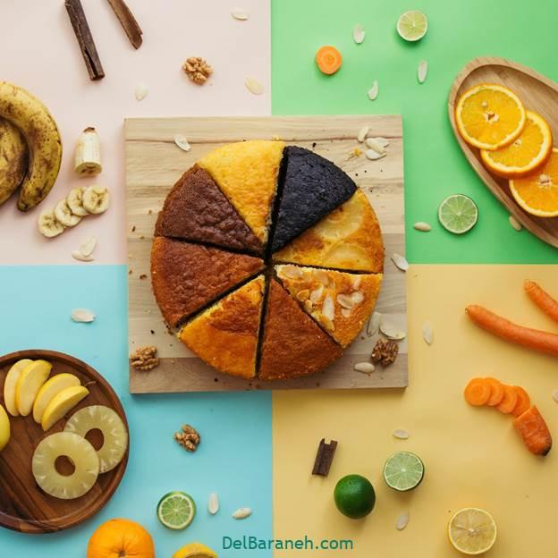 کیک چند طعم
