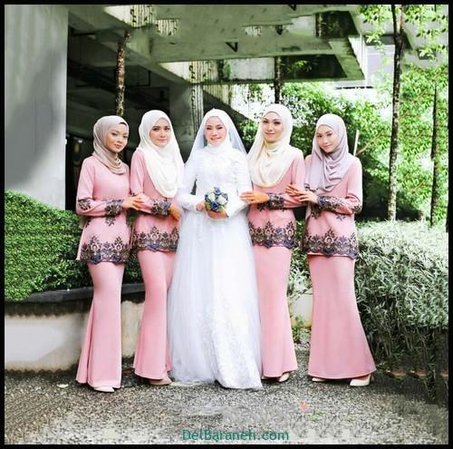 مدل لباس زیبا برای ساقدوش عروس (۳)