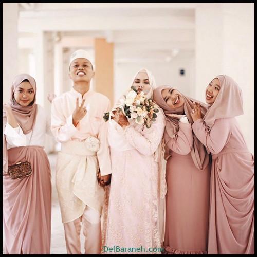 مدل لباس زیبا برای ساقدوش عروس (۵)