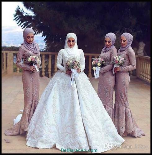 مدل لباس زیبا برای ساقدوش عروس (۶)