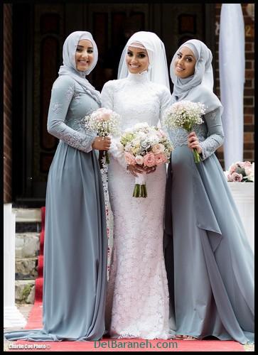 مدل لباس زیبا برای ساقدوش عروس (۸)