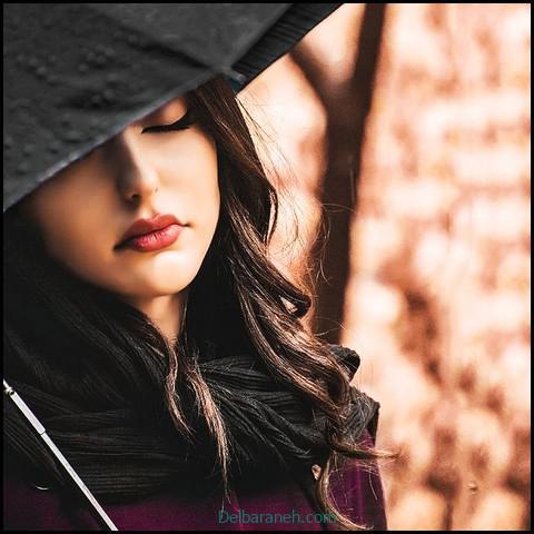 عکس غمگین دخترانه سیاه و سفید (۳)